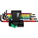 Набор Г-образных ключей WERA 967 SPKL/9 TORX® BO Multicolour BlackLaser 073599