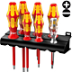 Набор отверток диэлектрический WERA Kraftform Plus 160 i/7 Rack , 006147